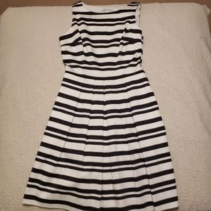 NWT Striped Fit and Flare Dress